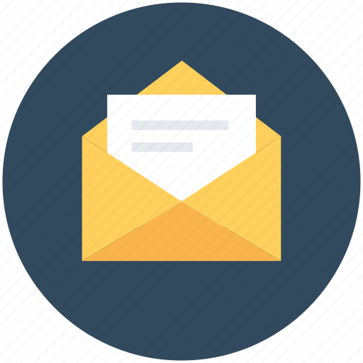 email, envelope, open envelop, post envelope, post letter icon