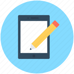 compose, device, edit, mobile, pen icon