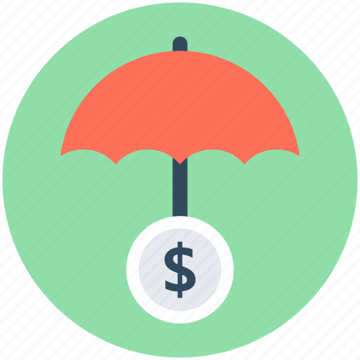 business protection, insurance, parasol, safety, umbrella icon