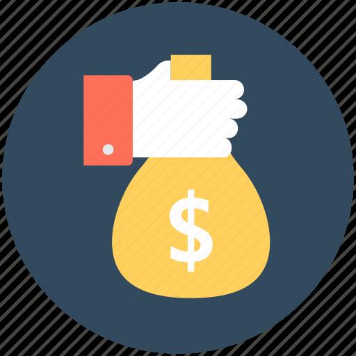 cash, cash bag, dollar sack, money sack, payment icon
