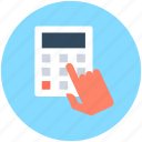 accounting, calculating device, calculation, calculator, digital calculator icon