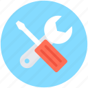 options, screwdriver, settings, spanner, wrench icon