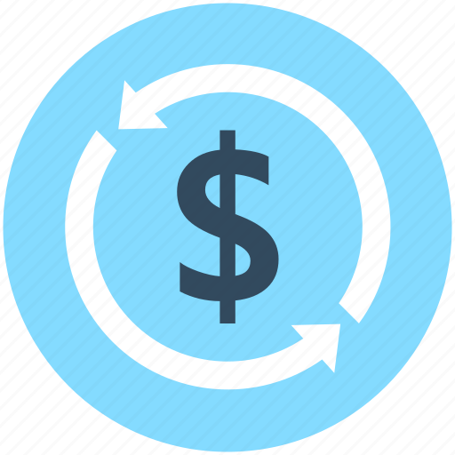 currency exchange, dollar, dollar exchange, foreign exchange, refresh icon