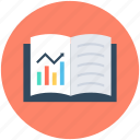 book, business report, economics book, graph book, journal icon