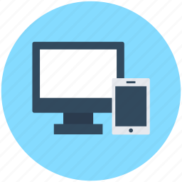 adaptive, devices, lcd, mobile, responsive icon