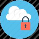 cloud computing, cloud locked, cloud security, lock, network security