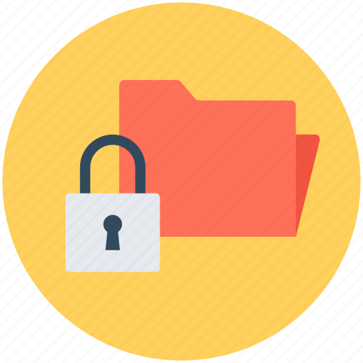 data protection, folder lock, lock, privacy, safety icon