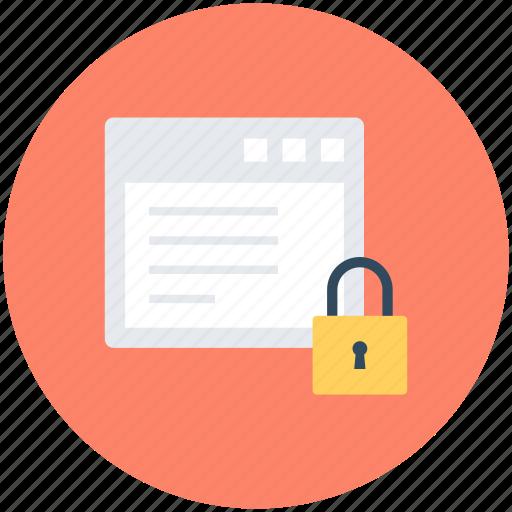 lock, padlock, web protection, web safety, website icon