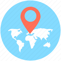 global location, gps, location pin, navigation, world location icon