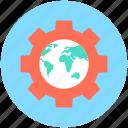 globe, globe gear, optimization, seo, worldwide
