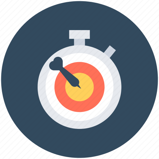 aim, chronometer, deadline, objective, target icon