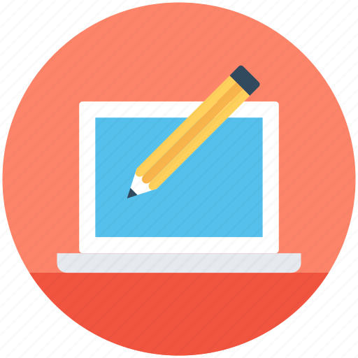 article writing, designing, online article, online writing, script writing icon
