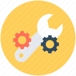 cog, cogwheel, gear, settings, spanner icon