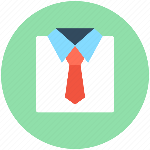 formal dress, formal shirt, men clothing, shirt, tie icon