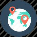 globe location, gps, location pin, navigation, world location