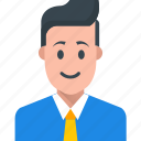 business consulting, business person, businessman, chatting, customer representative icon