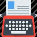 document, type, typer, typewriter, typing