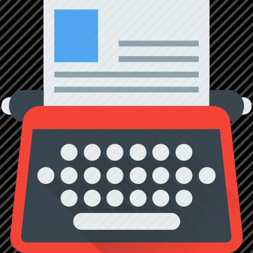 document, type, typer, typewriter, typing icon