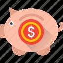 cash bank, piggy bank, penny bank, money bank, money box icon