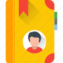 phone directory, address book, yellow pages, phonebook, telephone directory icon