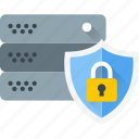 data protection, data server protection, server lock, server protection, server safety icon