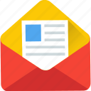 email, envelope, open envelop, post envelope, post letter icon