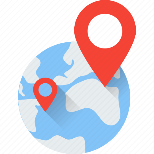 global location, gps, location pin, navigation, world location icon