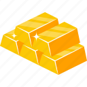 blocks, cubes, gold, gold bar, gold biscuits, gold bricks, gold ingots icon