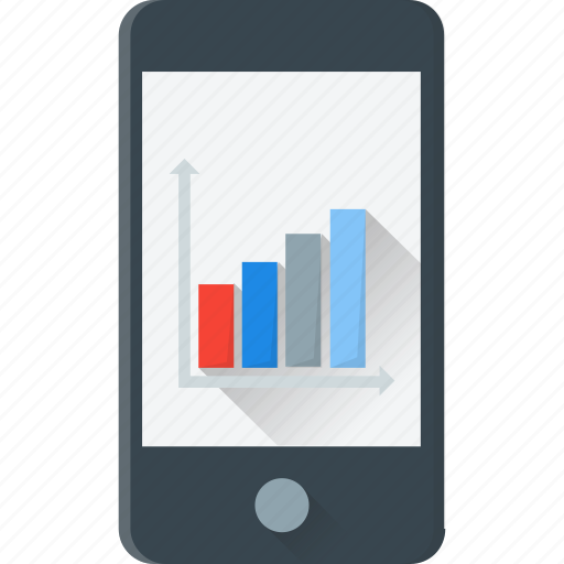 business chart, financial chart, mobile, statistics icon