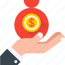 business, dollar, income, investment, revenue icon