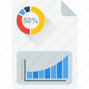 business report, document, economics, graph book, journal icon