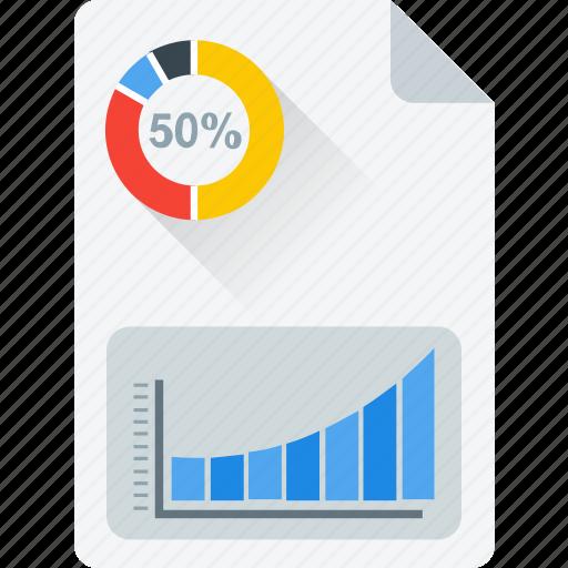 business report, document, economics, graph book, journal icon