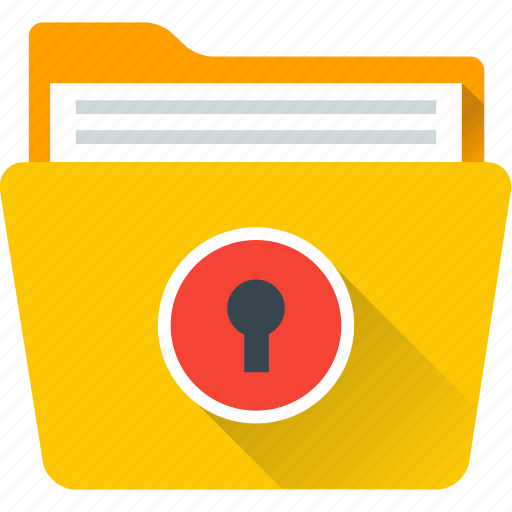 data, foldder, lock, save, securty icon