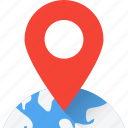 globe, gps, location, map, sticky icon
