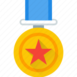 award, gold, medal, rank, star, topper icon