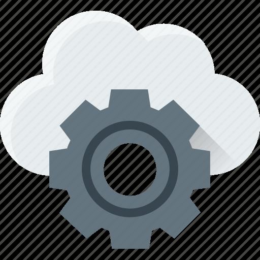 cloud maintenance, cloud setting, cog, network settings, settings icon