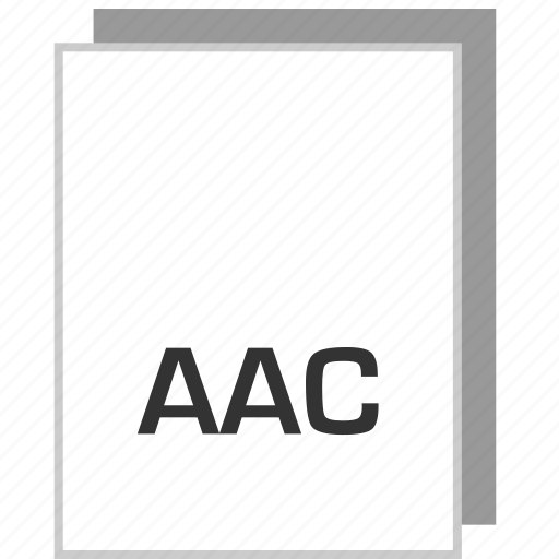aac, document, file, type icon