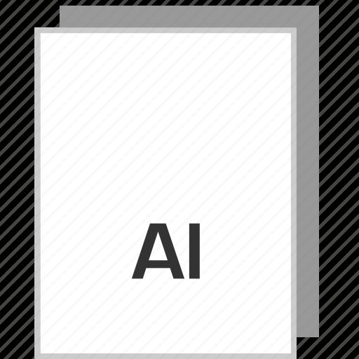 ai illustrator, document, file, type icon