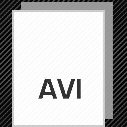 avi, document, file, type icon