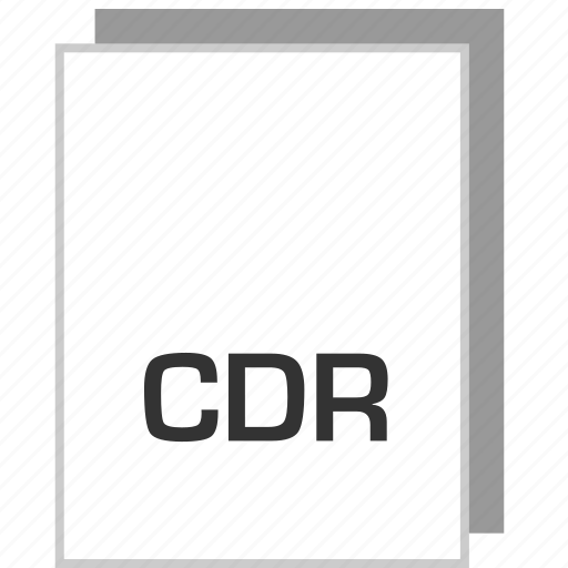 cdr, document, file, type icon