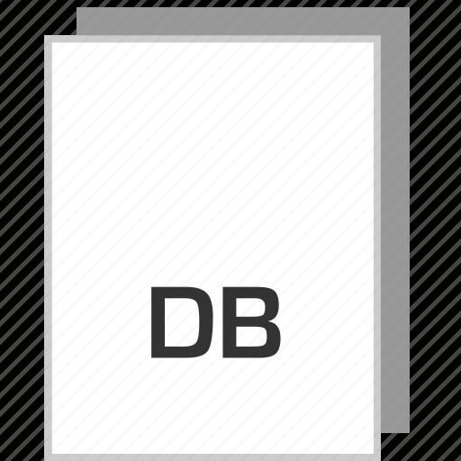 db, document, file, type icon