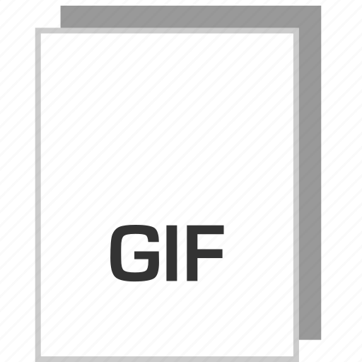 document, file, gif, type icon