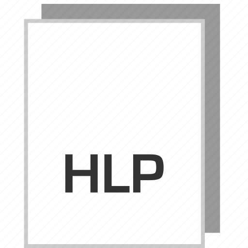 document, file, hlp, type icon