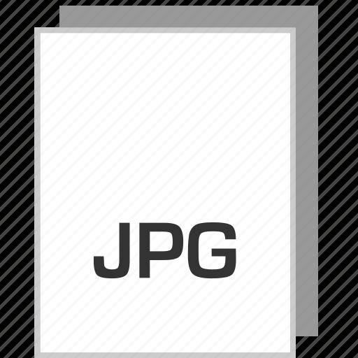 document, file, jpg, type icon