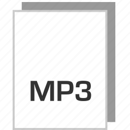 document, file, mp3, type icon