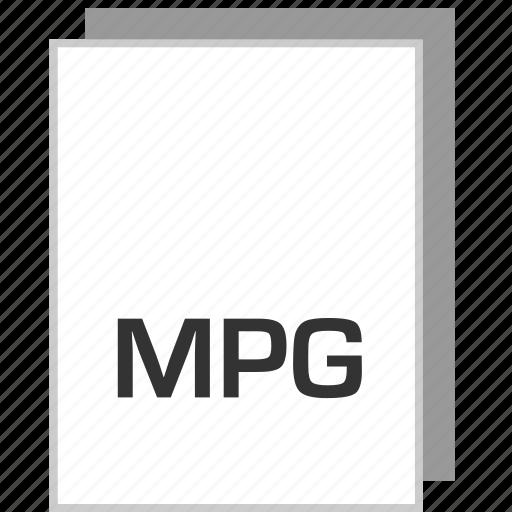 document, file, mpg, type icon
