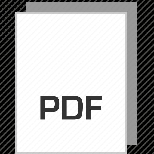 document, file, pdf, type icon