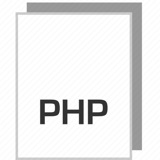 document, file, php, type icon