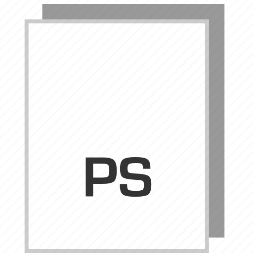 document, file, ps, type icon