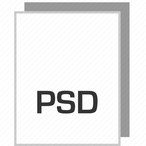 document, file, psd, type icon